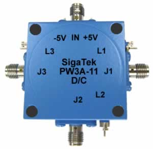 PW3A-11 Pin Diode Switch SP3T Absorptive 0.5-4.0 Ghz