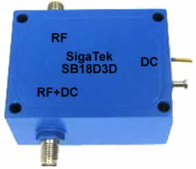 SB18D3D Bias Tee High Power 10 Watts 8 Ghz