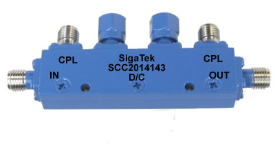 SCC2014143 Dual Directional Coupler 20 dB 4.0-8.0 Ghz