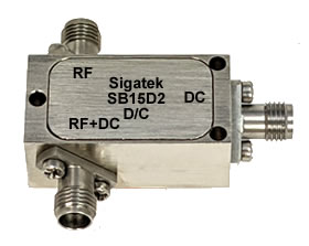 Microwave Wideband Bias Tee, 30 Khz-40 Ghz, SMA, In Stock Outline-D2